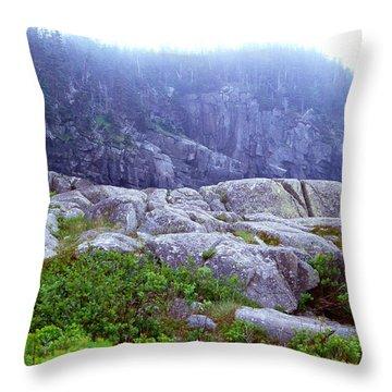 Rocky Maine Coast Throw Pillow by Amanda Kiplinger