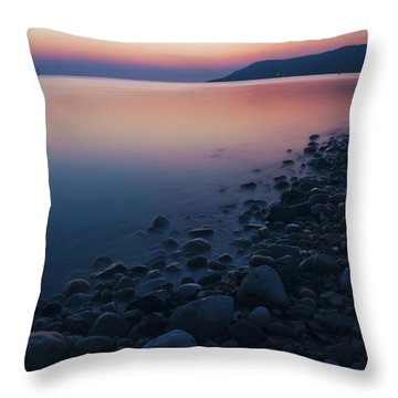 Rocky Sunset Throw Pillow by Ian Mitchell
