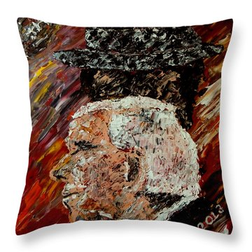 Roll Tide With Bear Bryant And Mal Moore  Throw Pillow by Mark Moore