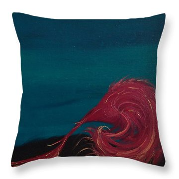Rollin Seaweed Throw Pillow by Robert Nickologianis