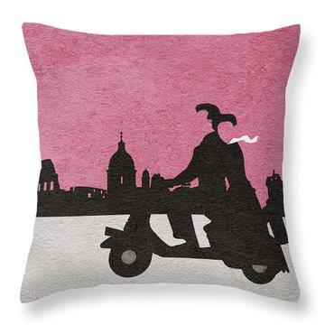 Roman Holiday Throw Pillow by Ayse Deniz