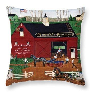 Romanchuk Restoration Throw Pillow by Joseph Holodook