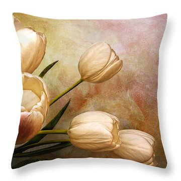Romantic Spring Throw Pillow by Claudia Moeckel