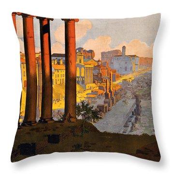 Rome Par La Voie Du Mont-cenis Throw Pillow by Georgia Fowler