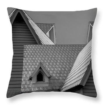 Roof Lines Throw Pillow by Debra and Dave Vanderlaan