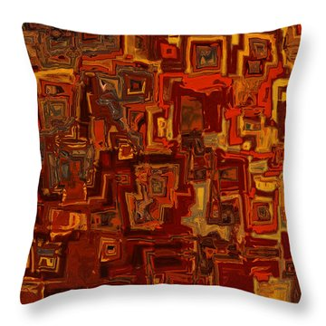 Rooftops Throw Pillow by Jack Zulli