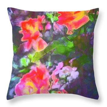Rose 192 Throw Pillow by Pamela Cooper
