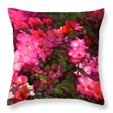 Rose 202 Throw Pillow by Pamela Cooper