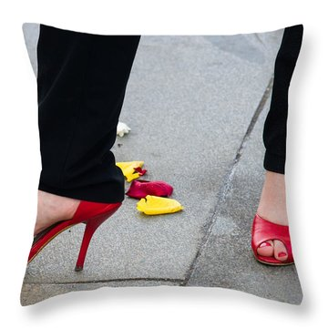 Rose Among The Roses - Featured 2 Throw Pillow by Alexander Senin