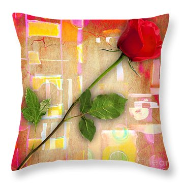 Rose Collection Throw Pillow by Marvin Blaine
