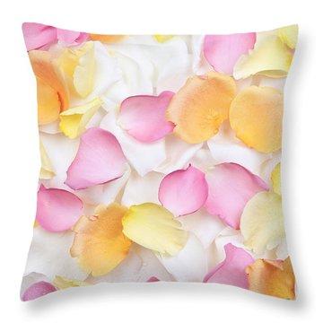 Rose Petals Background Throw Pillow by Elena Elisseeva