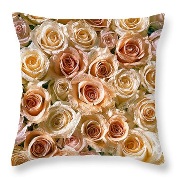 Roses 1 Throw Pillow by Mauro Celotti