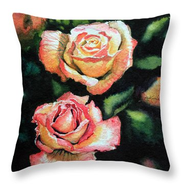 Roses I Throw Pillow by Hanne Lore Koehler