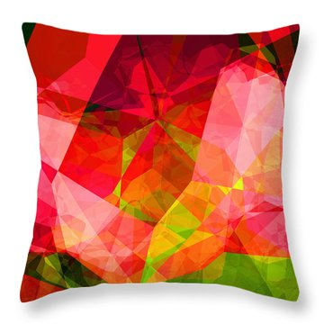 Roses Throw Pillow by Wendy J St Christopher