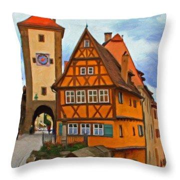 Rothenburg Throw Pillow by Michael Pickett