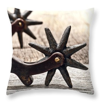 Rough Spurs Throw Pillow by Olivier Le Queinec