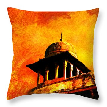 Royal Fort 01 Throw Pillow by Catf
