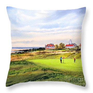 Royal Liverpool Golf Course Hoylake Throw Pillow by Bill Holkham