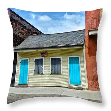 Rue Burgundy Throw Pillow by Bill Cannon