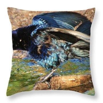 Ruffle My Feathers Throw Pillow by Lorri Crossno