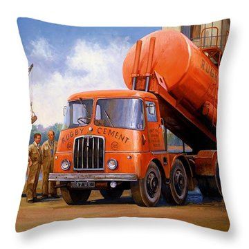 Rugby Cement Thornycroft. Throw Pillow by Mike  Jeffries