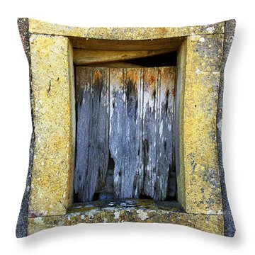 Ruined Window Throw Pillow by Carlos Caetano
