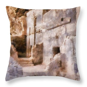 Ruins Throw Pillow by Michelle Calkins