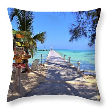 Rum Point Throw Pillow by Carey Chen