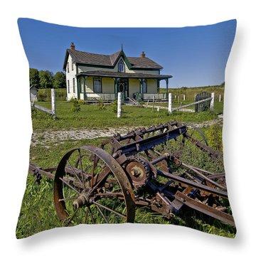 Rural Ontario Throw Pillow by Steve Harrington
