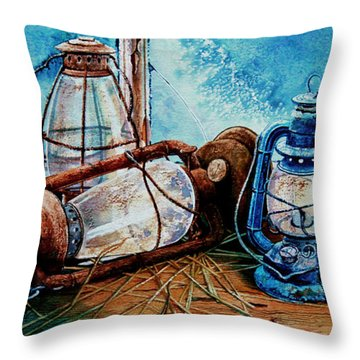 Rustic Relics Throw Pillow by Hanne Lore Koehler