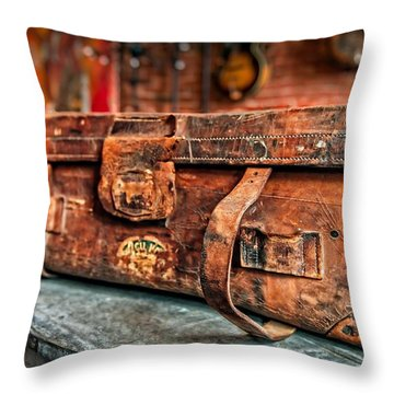 Rustic Trunk Throw Pillow by Brett Engle