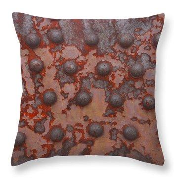 Rusty Girder Truss Throw Pillow by Art Block Collections