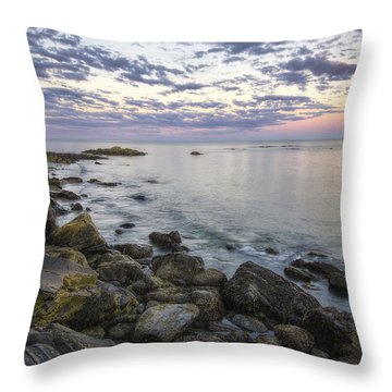 Rye Cliffs Throw Pillow by Eric Gendron