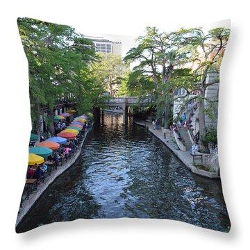 Sa River Walk 2  Throw Pillow by Shawn Marlow