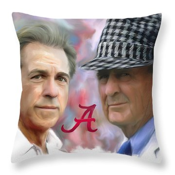 Saban And Bear Throw Pillow by Mark Spears