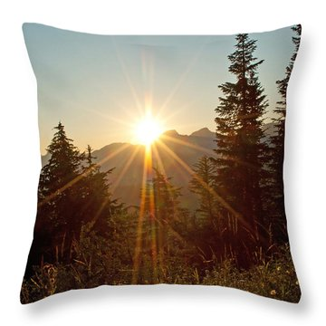 Sabbath Sunset Throw Pillow by Tikvah's Hope