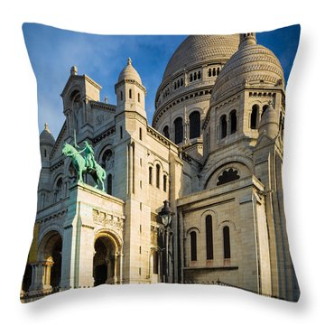 Sacre Coeur At Dawn Throw Pillow by Inge Johnsson