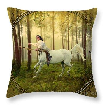 Sagittarius Throw Pillow by Linda Lees