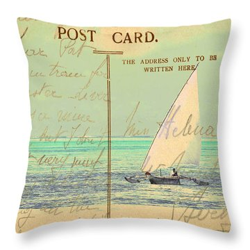 Sail Away Throw Pillow by Sarah Vernon
