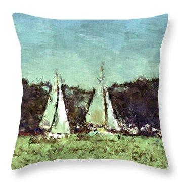 Sail Away Throw Pillow by Susan Leggett