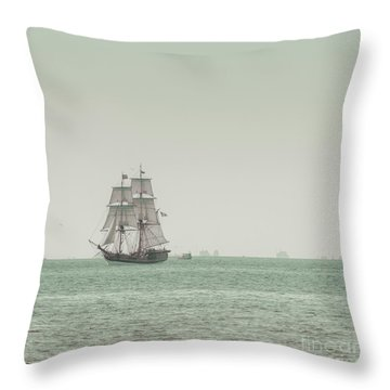Sail Ship 1 Throw Pillow by Lucid Mood
