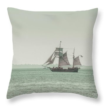 Sail Ship 2 Throw Pillow by Lucid Mood