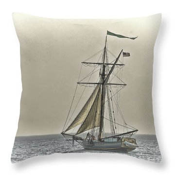 Sailing Off Throw Pillow by Jack R Perry