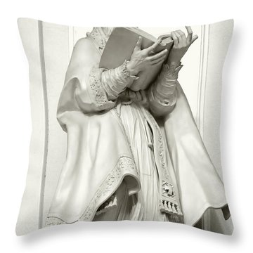 Saint Ambrose - Holy Trinity Cathedral Dresden Throw Pillow by Christine Till