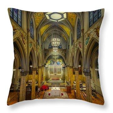 Saint Malachy The Actors Chapel  Throw Pillow by Susan Candelario