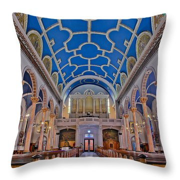 Saint Michaels Church Throw Pillow by Susan Candelario
