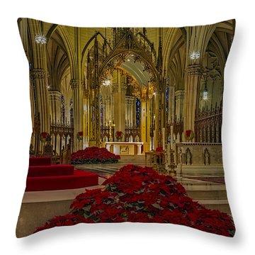 Saint Patricks Cathedral Throw Pillow by Susan Candelario