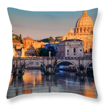 Saint Peters Basilica Throw Pillow by Inge Johnsson