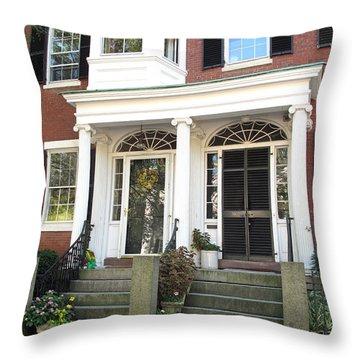 Salem Brownstone Throw Pillow by Barbara McDevitt