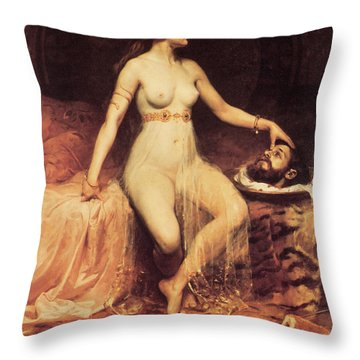 Salome Throw Pillow by Pierre Bonnaud